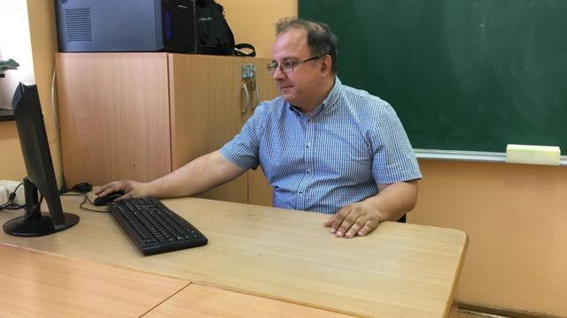 Profesor Glavnik u Matematičkoj gimnaziji, 8. maj 2018. godine