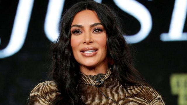 Kim Kardashian in California in January 2020.