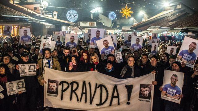 Protest u Sarajevu, decembar 2018.