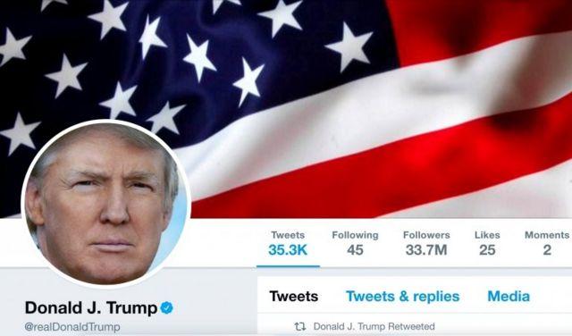 Trump'ın Twitter hesabı