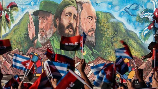 Mural revolucionario en Cuba