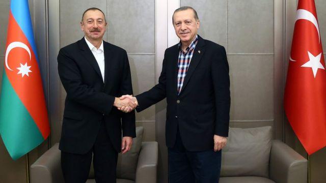 Ilham Əliyev Türkiyədə Recep Tayyip Erdoğanla görüşüb