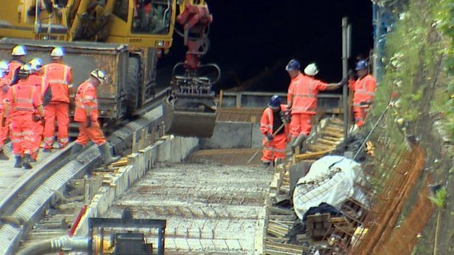 Work at the Winchburgh tunnel