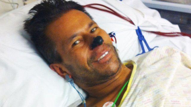 Dean Smahon in hospital