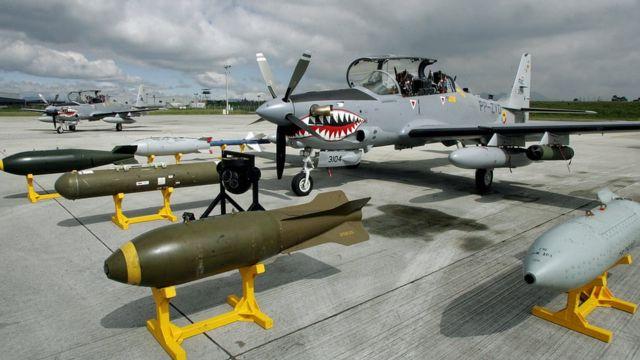 Embraer Super Tucano колумбийских ВВС
