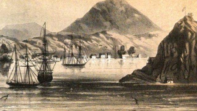 La isla del Tigre a mediados del siglo XIX.