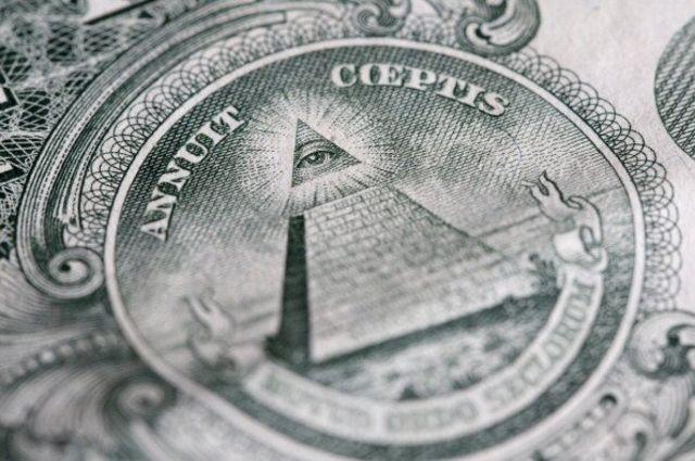 چشم جهانبین بر اسکناس یک دلاری ایالات متحده