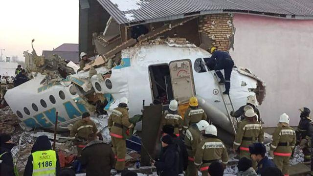 Avión accidentado