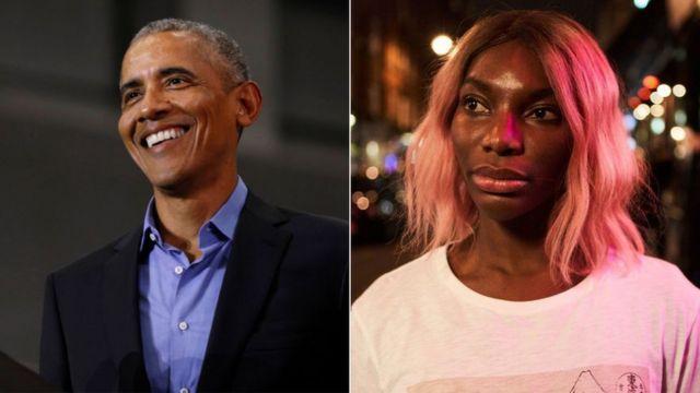 Barack Obama and Michaela Coel