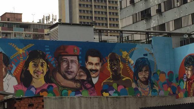 Ảnh Chavez và Maduro