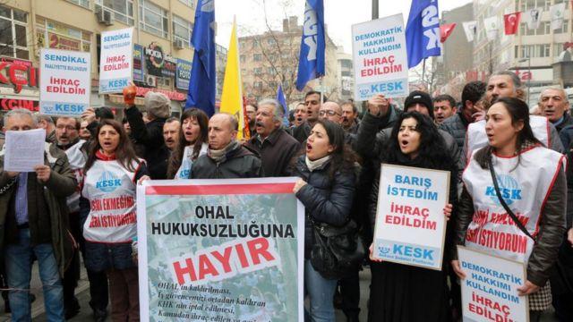 11 Şubat 2017'de Ankara'da OHAL karşıtı protesto düzenlendi