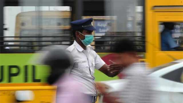 Agente de Tránsito en India.