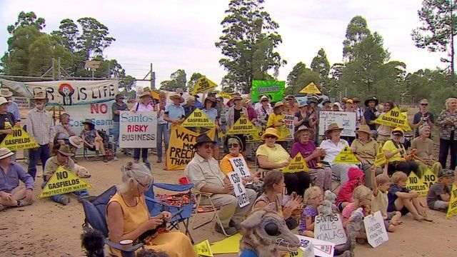 Coal seam gas protesters in New South Wales