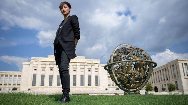 何韻詩在聯合國