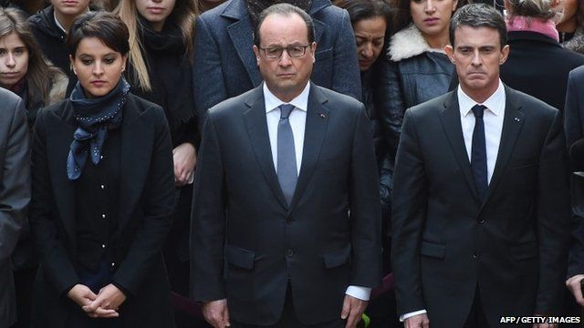 Minute silence observed in Paris