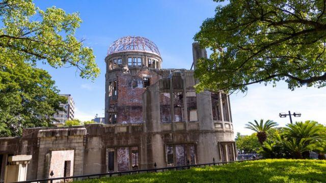 The Genbaku dome in the Hiroshima peace memorial park