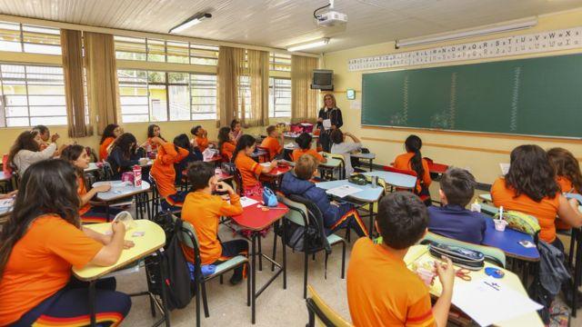 Escola em Curitiba, em foto de arquivo