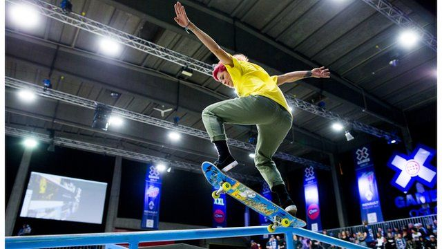 Bronze medallist Vanessa Torres from the US in action during the X Games Oslo 2016