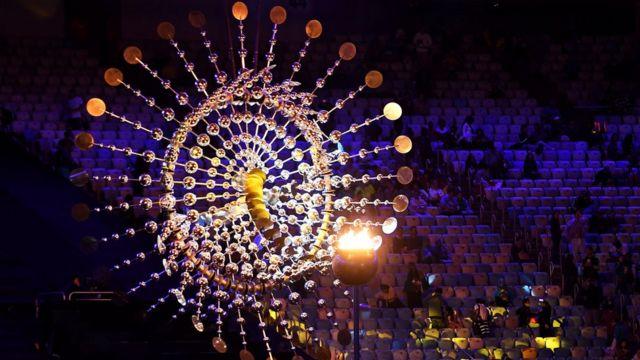 La llama olímpica en el Maracaná.
