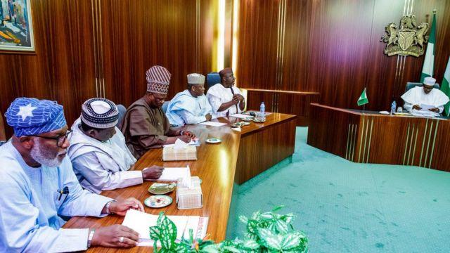 Some APC Govnors wit President Muhammadu Buhari