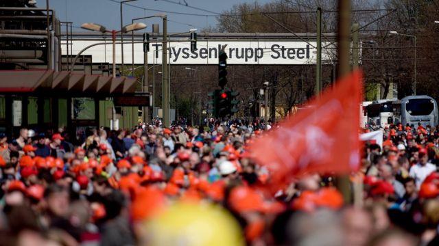 Protesta obrera en Alemania