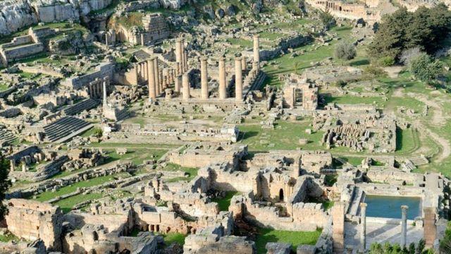 Las ruinas de Cirene