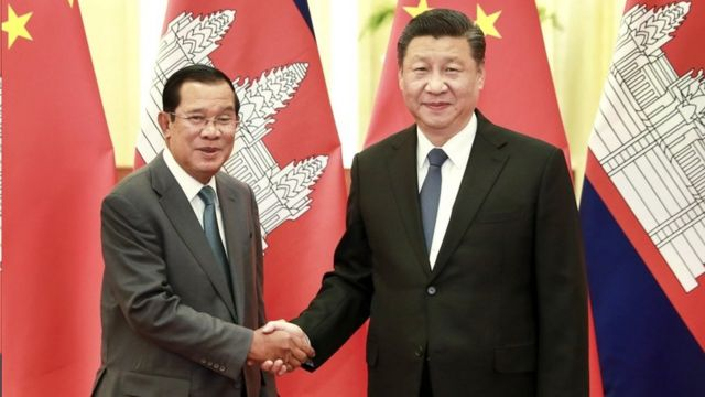 新型冠狀肺炎在中國爆發之際,柬埔寨首相洪森在北京會晤中國國家主席習近平。