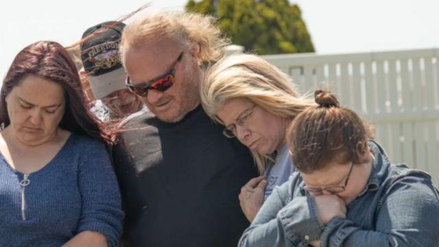 Rob e Danielle no funeral
