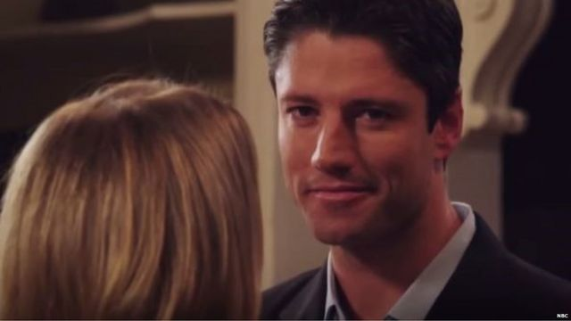 Actor James Scott in the spoof Days of Our Lives scene about disabled Syrian refugee Noujain Mustaffa