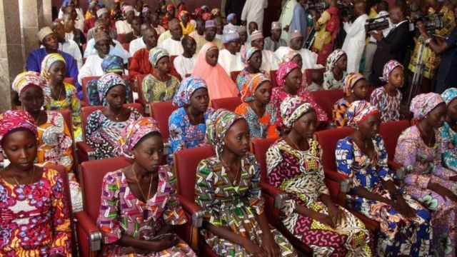 Certaines parmi les filles de Chibok ont été libérées en 2016 et 2017.