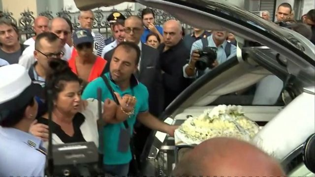 Funeral of Tiziana Cantone