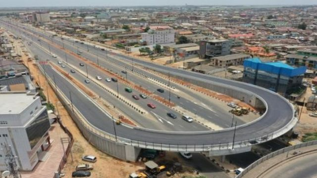 The new airport road