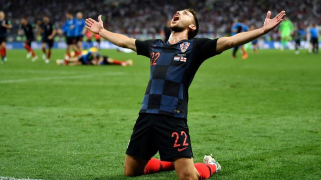 Croatia ăn mừng chiến thắng.