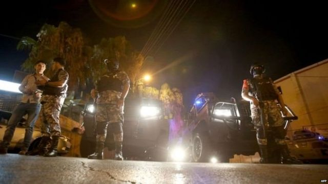 Security forces have closed roads in the area