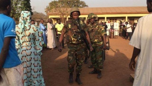La sécurité a été renforcée au bureau de vote de Tamale, dans le nord du pays