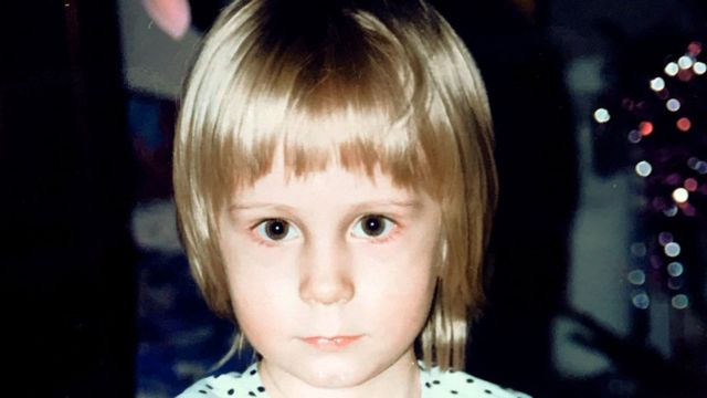 Iryna as a child
