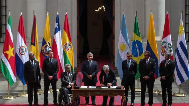 Presidentes assinam acordo para criação do Prosul