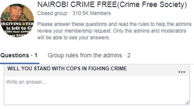 Facebook/ Nairobi Crime Free