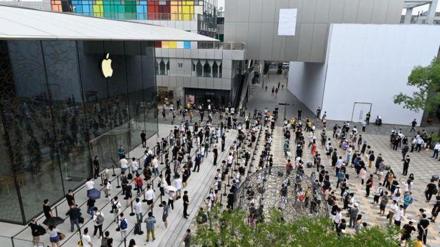 Очередь в Apple Store в Пекине