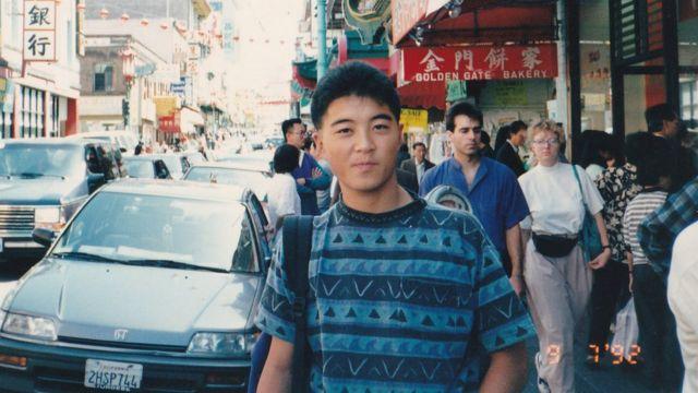 Yoshihiro Hattori on a trip to San Francisco in 1992