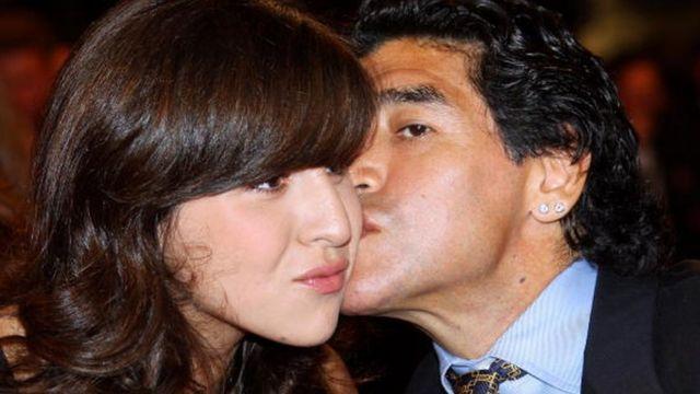 Maradona con Gianinna