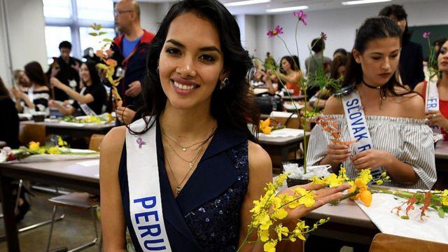 Danea Juanita Panta, miss Pérou en 2016 à Tokyo.