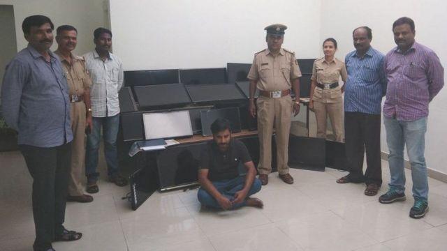هندي يسرق 120 تلفاز من فنادق خلال أربعة أشهر