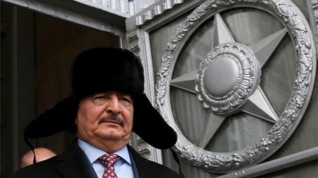 حفتر بعد لقائه سيرغي لافروف في موسكو