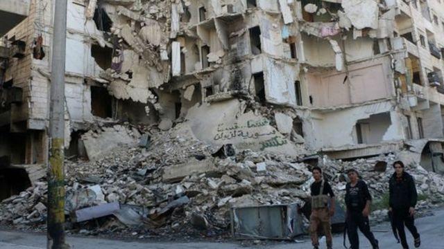 इदलिब में तबाही की फ़ाइल फ़ोटो
