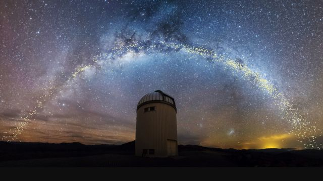 Warsaw telescope under the Milky Way