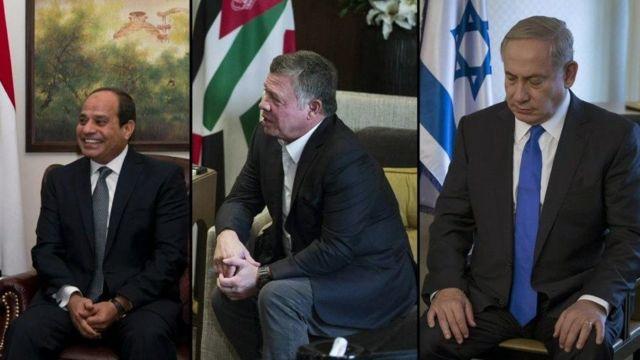 لقاء سري يجمع نتانياهو بالعاهل الأردني عبد الله الثاني والرئيس المصري عبد الفتاح