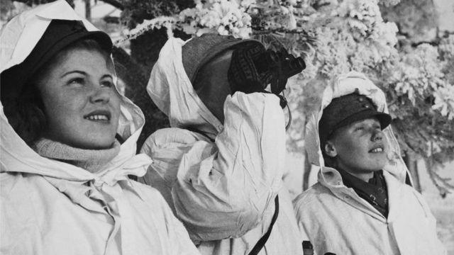 Финские зенитчицы во время Зимней войны против СССР (1939-1940 гг.)