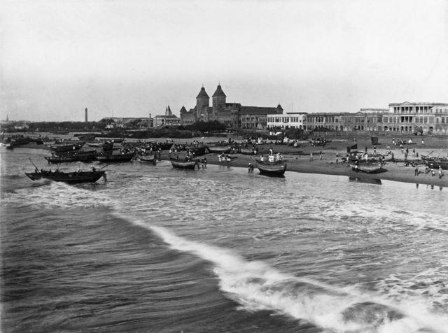 சென்னை என்றாலே பலரது நினைவுக்கு வரும் மெரினா கடற்கரை 1891இல் இப்படித்தான் இருந்தது.