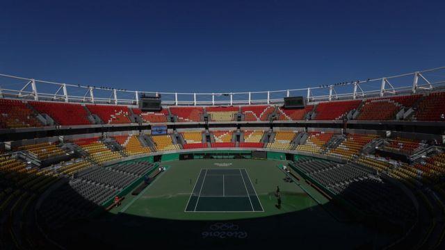 Vista geral do Centro Olímpico de Tênis